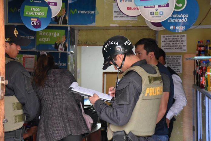 clausuran cabinas de internet en cajabamba