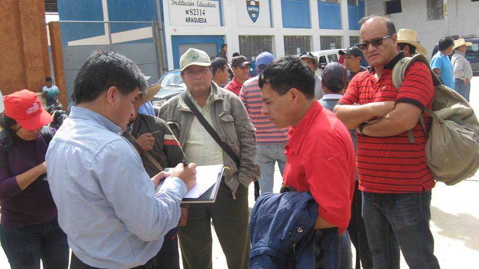 Registro de autoridades y dirigentes de base, previo al taller