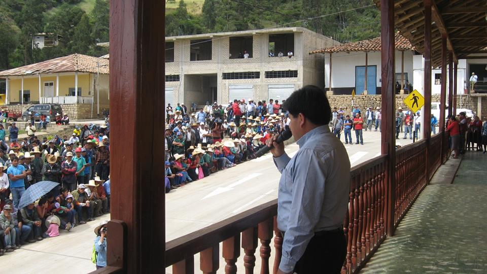 Director Regional de Energia y Minas, dando la nulidad del taller por inasistencia de la minera y a solicitud del pueblo